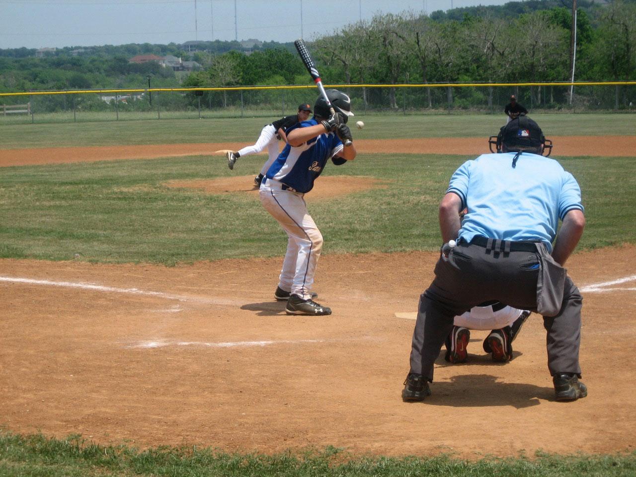 Baseball action at Valley Ridge