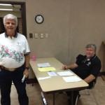 Knight Michael Clark and Health Director Pat Stepniewski