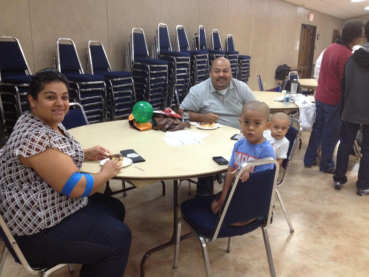 Miguel and Darlene Hernandez with David and Benjamin