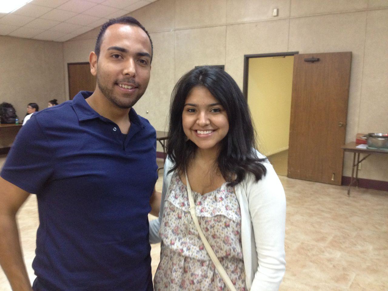 Jesus Zamora and Luz Perez