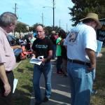 Demonstrators at the prayer vigil.