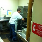 Billy Callender at the washing station