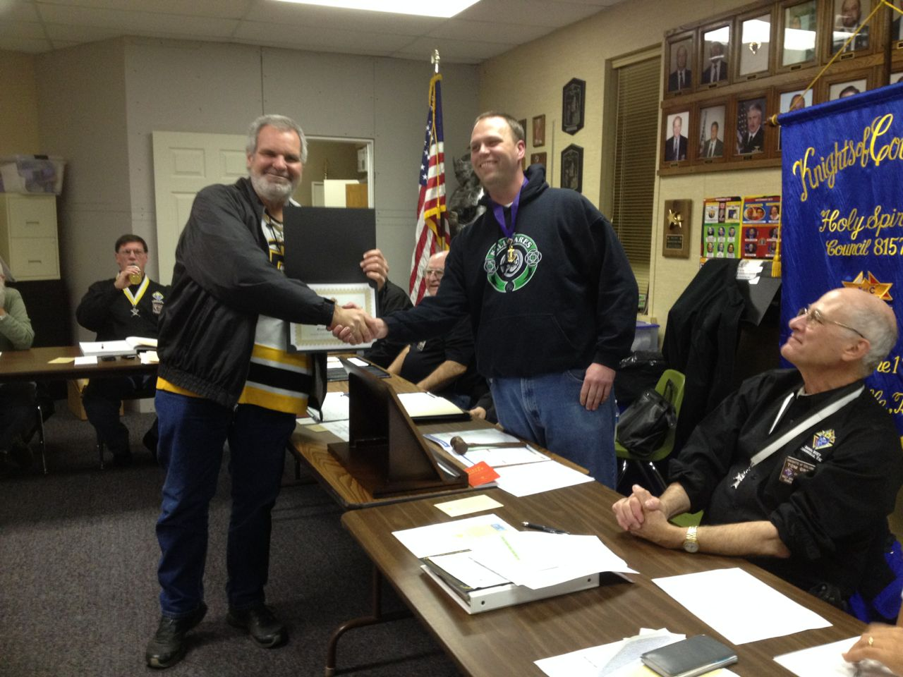 Greg Warr receives certificate of Appreciation