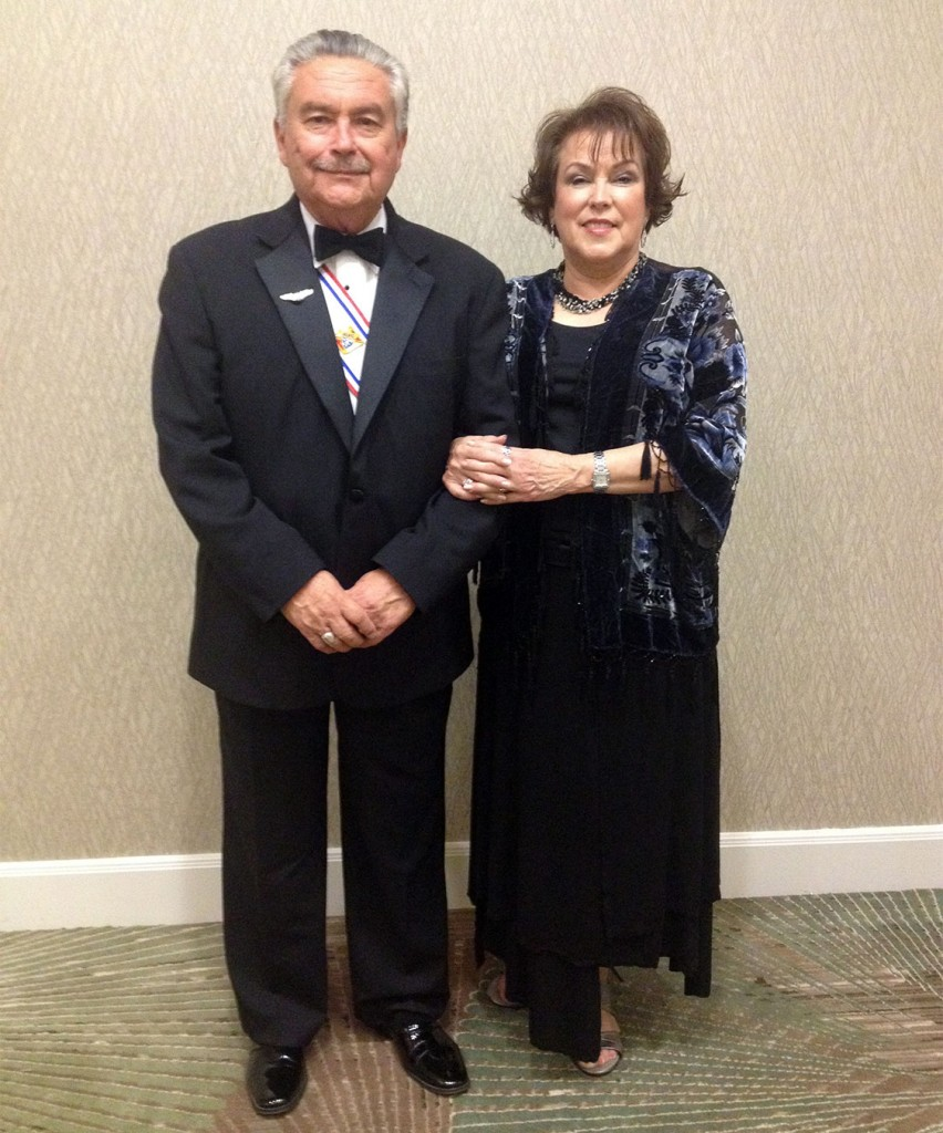 Jim and Denise Richardson at the Fourth Degree Banquet in early October 2015.