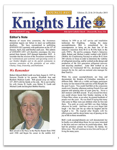 knights-life-newsletter-edition-22-23-24-oct-2015-thumb
