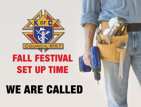 Festival set up time