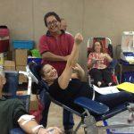 Mario and Gloria Ramos having fun at the blood drive.