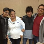 The Ramos family, Gloria and Mario with 2 of their 3 boys.