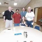 Andy Goza, Jorge Ruiz, Fred Craven and daughter Sarah, Michael Clark.