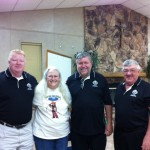 L-R: Andy Goza, Helen Beggane, Pat Stepniewski and Allen Reitmeier at the summer 2014 blood drive