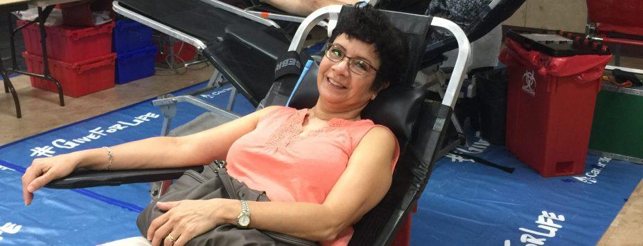 Bonnie Espree blood drive 2018-08