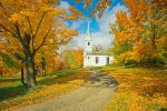 Autumn Sugar Maples And Country Church